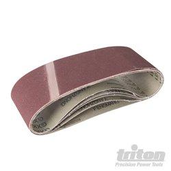 Grain 120. Lot de 5 bandes abrasives en oxyde d'aluminium