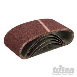 Lot de 5 bandes abrasives 100 x 560 mm Grain 40