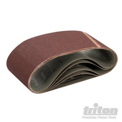 Lot de 5 bandes abrasives 100 x 560 mm Grain 100