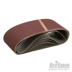 Lot de 5 bandes abrasives 100 x 610 mm Grain 100