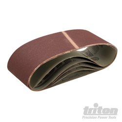 Lot de 5 bandes abrasives 100 x 610 mm Grain 150