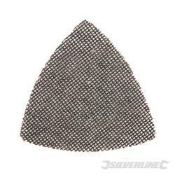Lot de 10 triangles abrasifs treillis auto-agrippants 95 mm - Grain 120