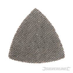 Lot de 10 triangles abrasifs treillis auto-agrippants 105 mm - Grain 80