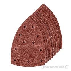 Lot de 10 feuilles abrasives Grain 40 auto-agrippantes 102 x 62 mm, 93 mm