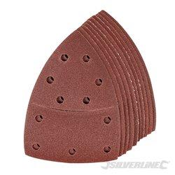 Lot de 10 feuilles abrasives Grain 120 auto-agrippantes 102 x 62 mm, 93 mm