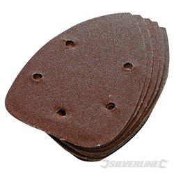 10 feuilles Grain 60 abrasives auto-agrippantes pour ponceuses de finition 140 mm
