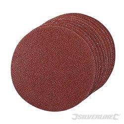 Lot de 10 disques grain 60 abrasifs auto-agrippants 125 mm
