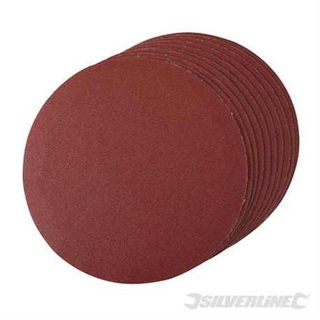 Lot de 10 disques grain 120 abrasifs auto-agrippants 180 mm