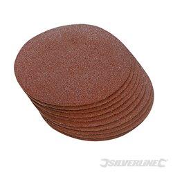 Grain 60, 250 mm - Lot de 10 disques abrasifs auto-agrippants