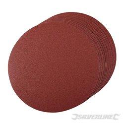 Grain 80, 250 mm - Lot de 10 disques abrasifs auto-agrippants 250 mm