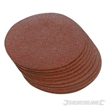 Grain 60, 300 mm - Lot de 10 disques abrasifs auto-agrippants