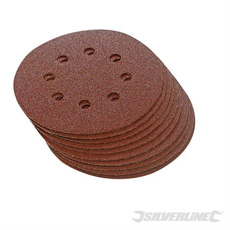 115 mm, grain 60 - 10 disques abrasifs perforés auto-agrippants 115 mm