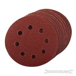 115 mm, grain 80 - 10 disques abrasifs perforés auto-agrippants 115 mm