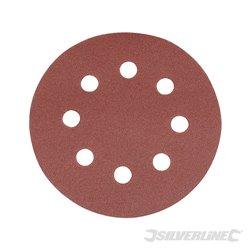 115 mm, grain 240 - 10 disques abrasifs perforés auto-agrippants