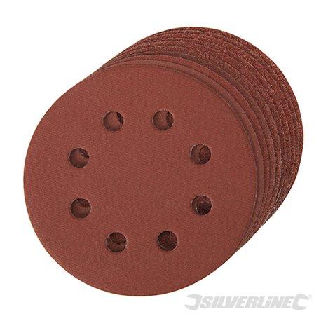 Lot de 10 disques abrasifs perforés auto-agrippants 115 mm