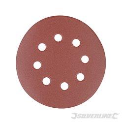 125 mm, grain 40 - 10 disques abrasifs perforés auto-agrippants 125 mm