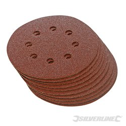 125 mm, grain 60 - 10 disques abrasifs perforés auto-agrippants