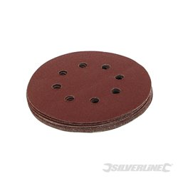 125 mm, grain 80 - 10 disques abrasifs perforés auto-agrippants