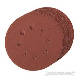 Lot de 10 disques abrasifs perforés auto-agrippants 125 mm