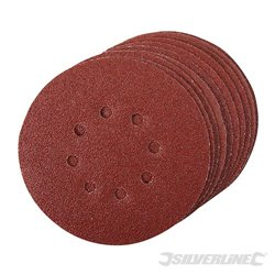 150 mm grain 60 Lot de 10 disques abrasifs perforés auto-agrippants
