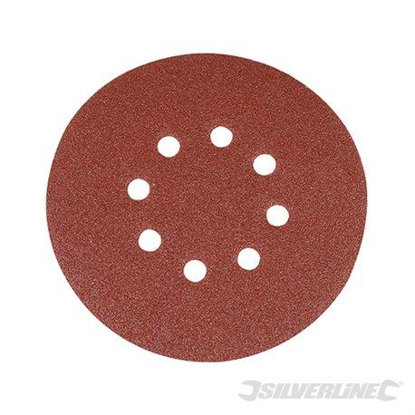 150 mm grain 80 Lot de 10 disques abrasifs perforés auto-agrippants