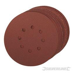 Lot de 10 disques grains assortis auto-agrippants perforés 150mm