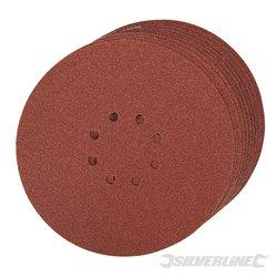 225 mm grain 60 Lot de 10 disques abrasifs perforés auto-agrippants