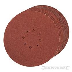 225 mm grain 80 Lot de 10 disques abrasifs perforés auto-agrippants