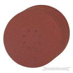 Lot de 10 disques Grain 120 auto-agrippants perforés 225 mm