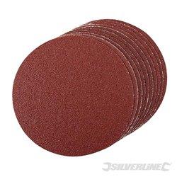 GRAIN 60 - 10 disques abrasifs autocollants de 150 mm