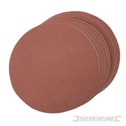 Grain 240 - 10 disques abrasifs autocollants de 150 mm