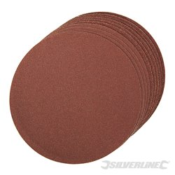 10 disques grains assortis abrasifs autocollants de 150 mm