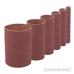 Grain 80 - Ensemble de 6 manchons de ponçage de 114 mm