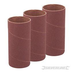 51 mm grain 60 - Ensemble de 3 manchons de ponçage de 114 mm