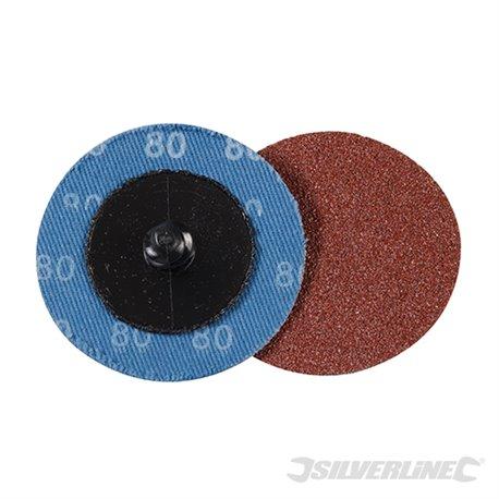 Grain 80 - Kit 5 disques abrasifs à changement rapide 50 mm