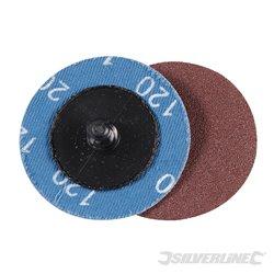 Grain 120 - Kit 5 disques abrasifs à changement rapide 50 mm