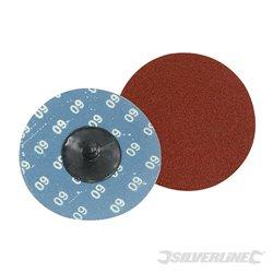 Grain 60 - Kit 5 disques abrasifs à changement rapide 75 mm
