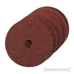 Grain 36 - Lot de 10 disques de ponçage en fibres 100 x 16 mm