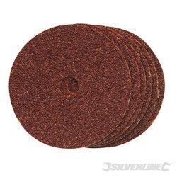 Grain 60 - Lot de 10 disques de ponçage en fibres 100 x 16 mm