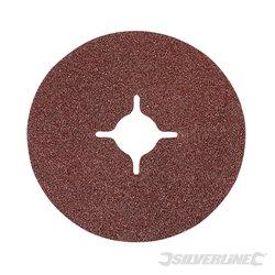 Grain 60 - 10 disques en fibre 115 x 22,23 mm