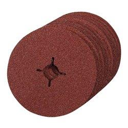 Grain 24 - 10 disques en fibre 125 x 22,23 mm