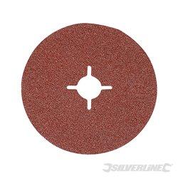 Grain 36 - 10 disques en fibre 125 x 22,23 mm
