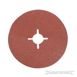 Grain 60 - 10 disques en fibre 125 x 22,23 mm