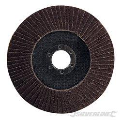 125 mm Grain 60 - Disque à lamelles corindon