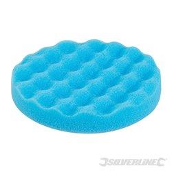Éponge de polissage contourée auto-agrippante bleue