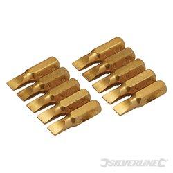 Lot de 10 embouts plats dorés - Embout plat 5 mm