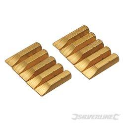 Lot de 10 embouts plats dorés - Embout plat 7 mm
