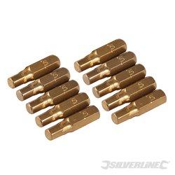 Lot de 10 embouts hexagonaux dorés - Embout 5 mm