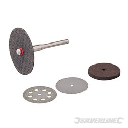 Ensemble de 5 disques de coupe et meules pour outil rotatif