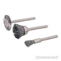 Ensemble de brosses métalliques pour outil rotatif 3 pièces